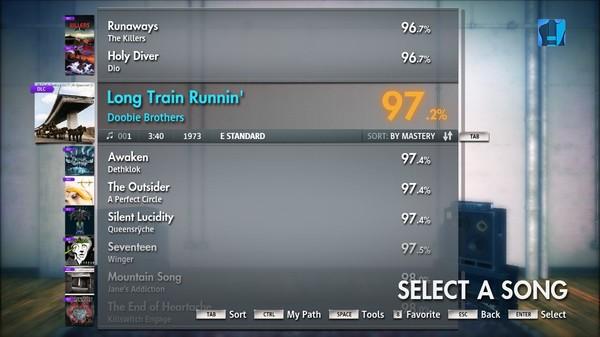 "Скриншот №1 к Rocksmith® 2014 – The Doobie Brothers - ""Long Train Runnin"""