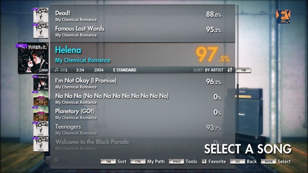 "Скриншот №2 к Rocksmith® 2014 – My Chemical Romance - ""Helena"""