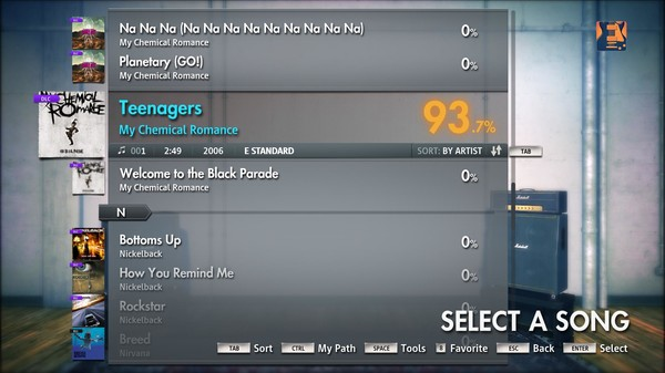 "Скриншот №3 к Rocksmith® 2014 – My Chemical Romance - ""Teenagers"""