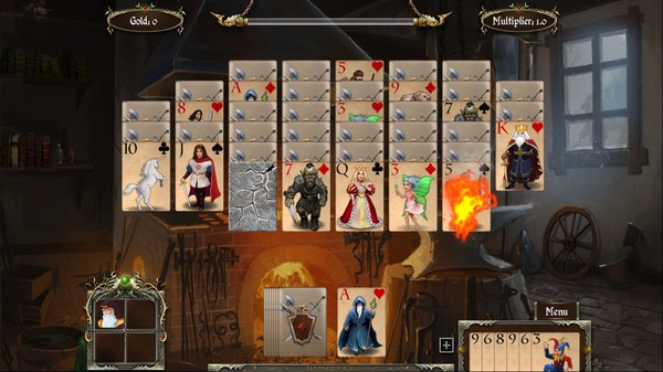 Screenshot of Legends of Solitaire: Curse of the Dragons