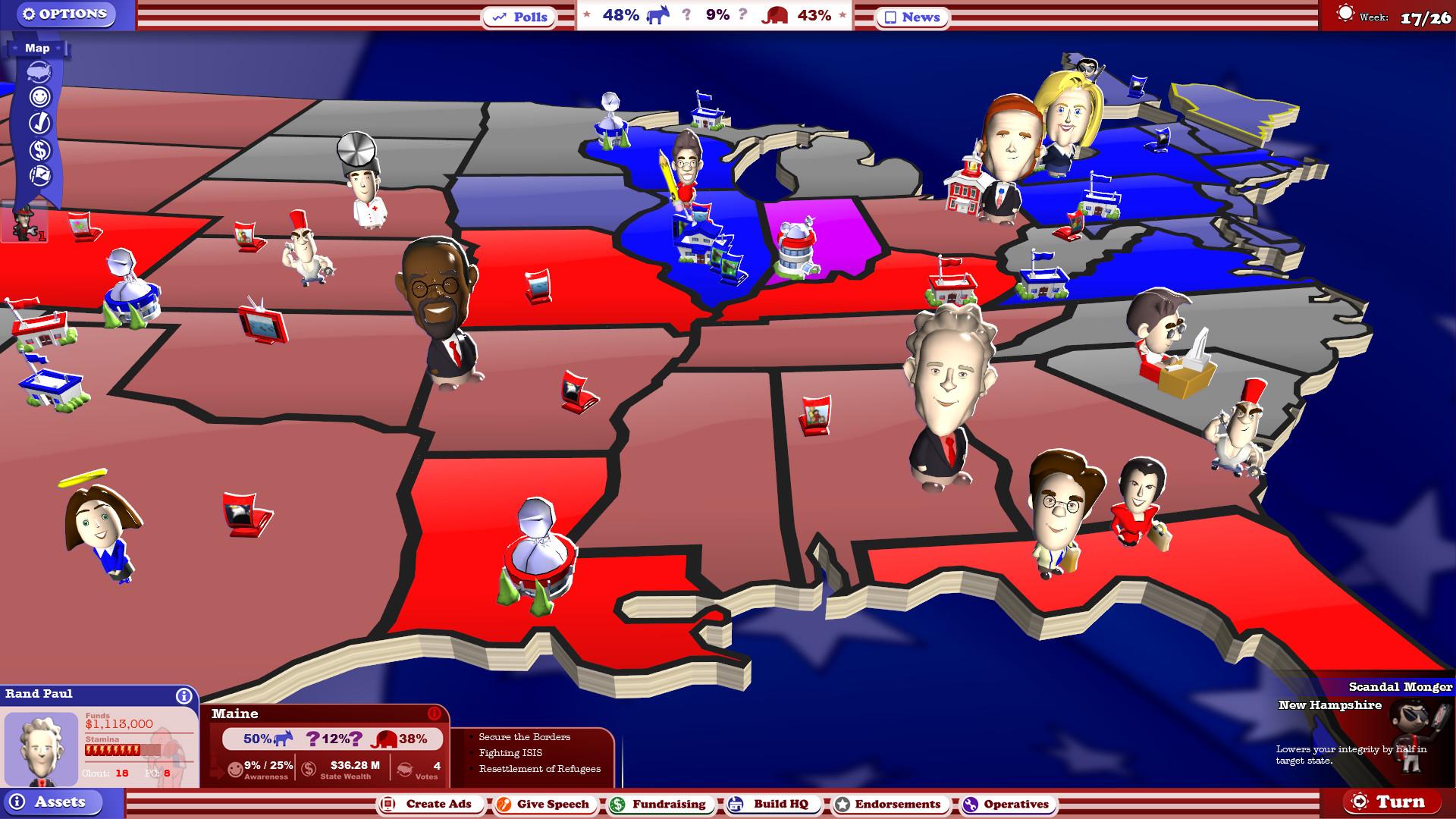 The Political Machine 2016 Screenshot 1
