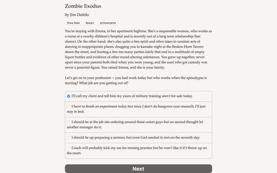 Screenshot of Zombie Exodus