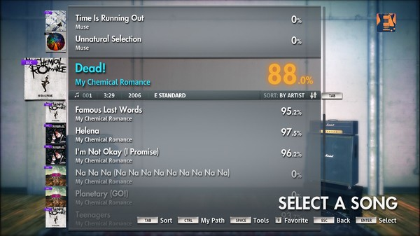 "Скриншот №4 к Rocksmith® 2014 – My Chemical Romance - ""Dead!"""