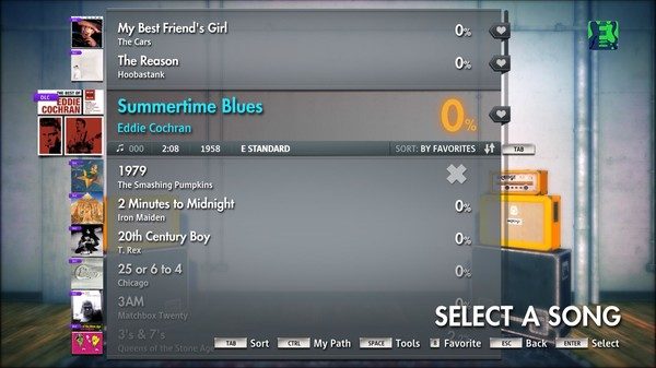 "Скриншот №1 к Rocksmith® 2014 – Eddie Cochran - ""Summertime Blues"""