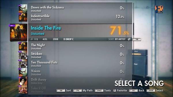 "Скриншот №5 к Rocksmith® 2014 – Disturbed - ""Inside the Fire"""