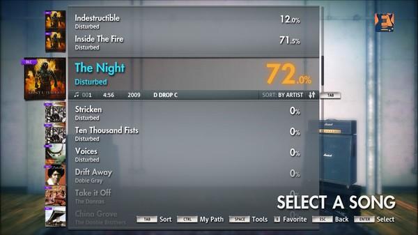 """Скриншот №5 к Rocksmith® 2014 – Disturbed - """"The Night"""""""