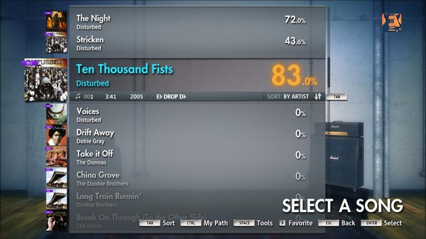 "Скриншот №4 к Rocksmith® 2014 – Disturbed - ""Ten Thousand Fists"""
