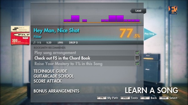 "Скриншот №4 к Rocksmith® 2014 – Filter - ""Hey Man Nice Shot"""