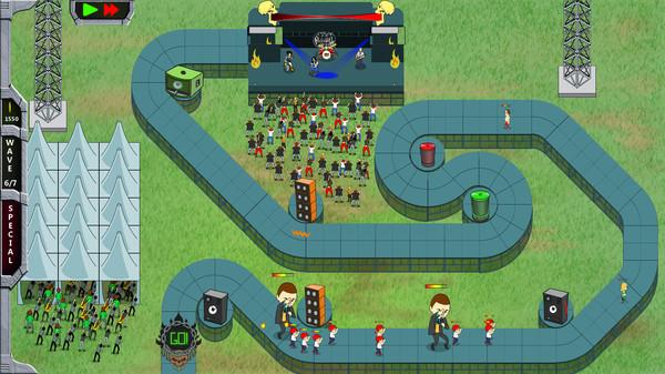 Скриншот №1 к Rock N Roll Defense