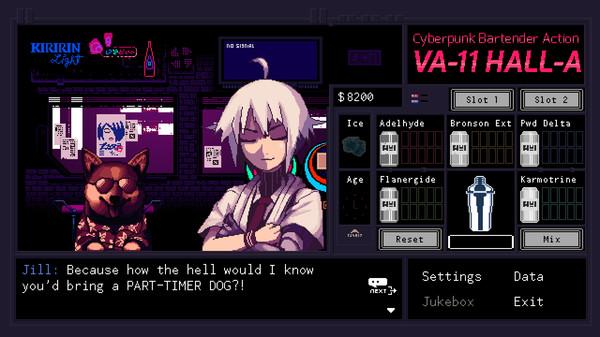 Скриншот №2 к VA-11 Hall-A Cyberpunk Bartender Action
