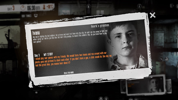 Скриншот №2 к This War of Mine The Little Ones