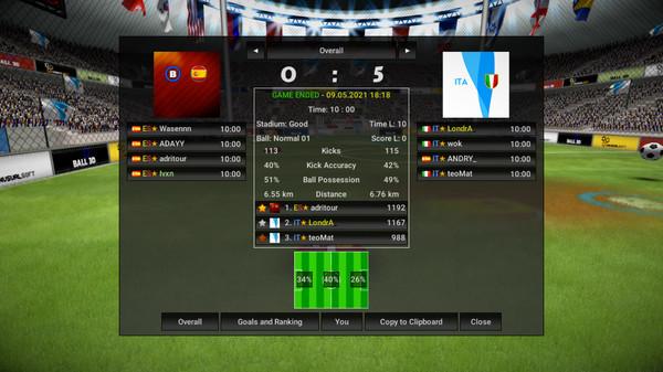 Screenshot of Ball 3D: Soccer Online
