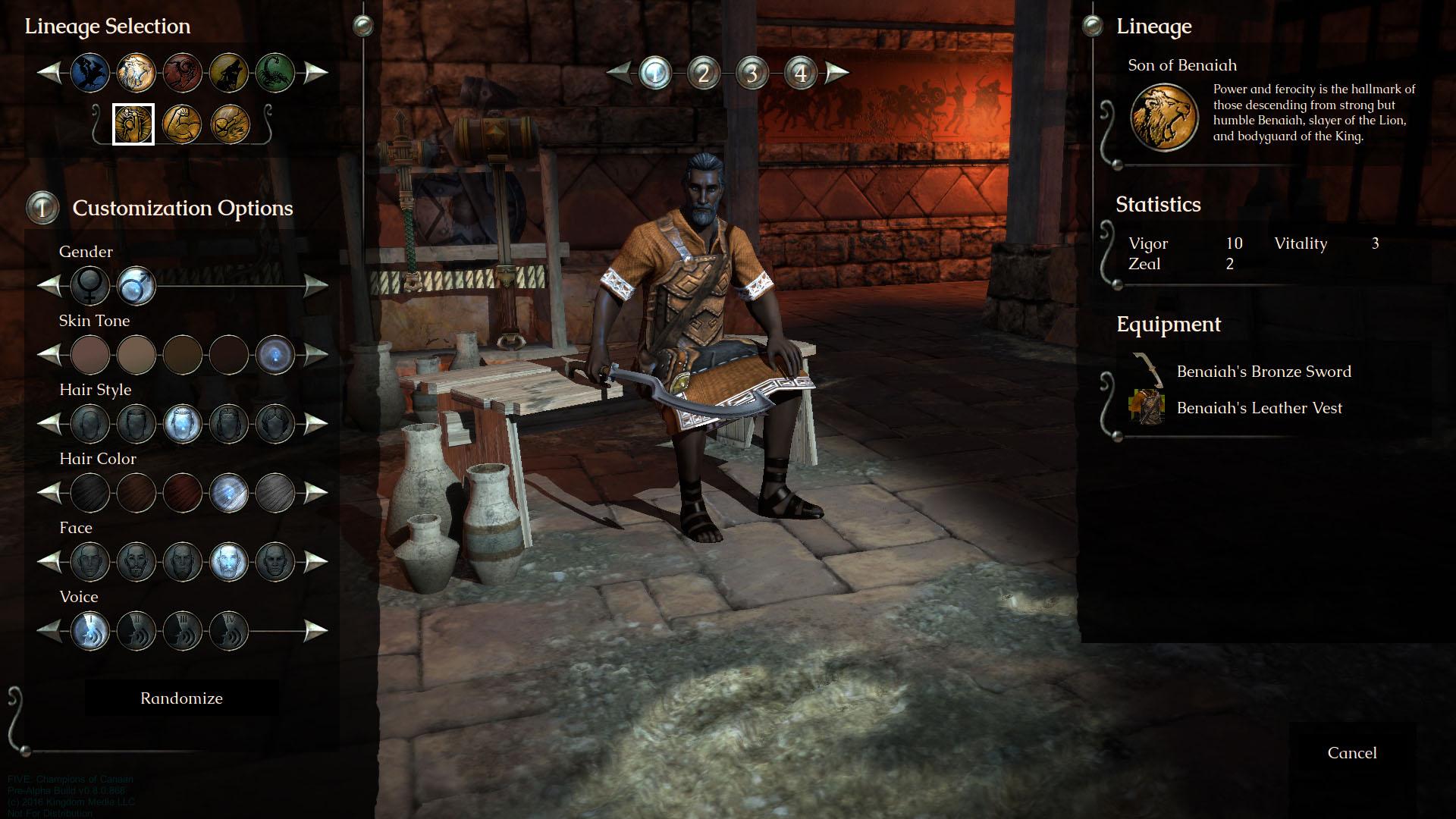 FIVE: Champions of Canaan Screenshot 3