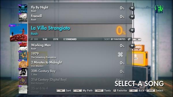 """Скриншот №1 к Rocksmith® 2014 – Rush - """"La Villa Strangiato"""""""