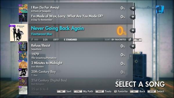 """Скриншот №4 к Rocksmith® 2014 – Fleetwood Mac - """"Never Going Back Again"""""""