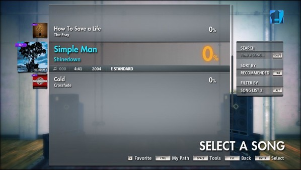 "Скриншот №2 к Rocksmith® 2014 Edition – Remastered – Shinedown - ""Simple Man"""