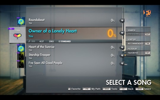 """Скриншот №4 к Rocksmith® 2014 Edition – Remastered – Yes - """"Owner of a Lonely Heart"""""""