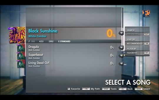 "Скриншот №3 к Rocksmith® 2014 Edition – Remastered – White Zombie  - ""Black Sunshine"""