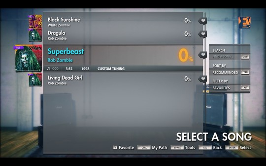 "Скриншот №1 к Rocksmith® 2014 Edition – Remastered – Rob Zombie  - ""Superbeast"""
