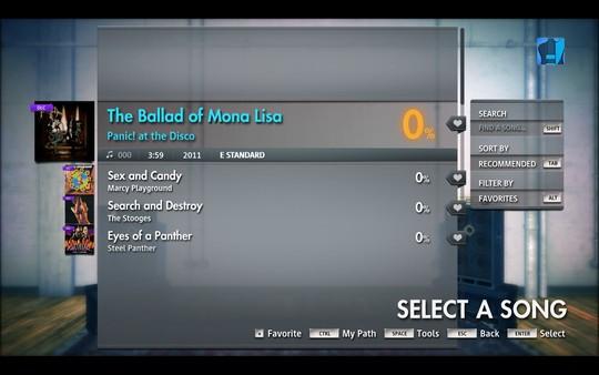 "Скриншот №1 к Rocksmith® 2014 Edition - Remastered – Panic! At The Disco - ""Ballad of Mona Lisa"""