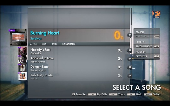 "Скриншот №1 к Rocksmith® 2014 Edition - Remastered – Survivor - ""Burning Heart"""