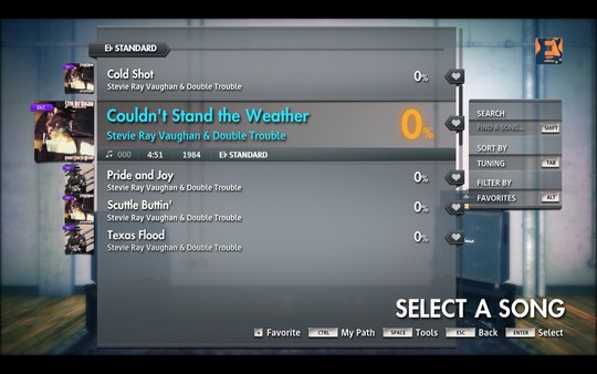 """Скриншот №3 к Rocksmith® 2014 Edition – Remastered – Stevie Ray Vaughan  Double Trouble - """"Couldnt Stand the Weather"""""""