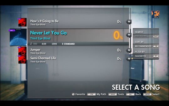 "Скриншот №1 к Rocksmith® 2014 Edition – Remastered – Third Eye Blind - ""Never Let You Go"