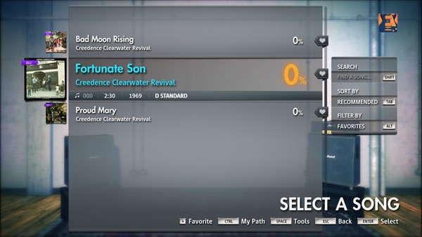 """Скриншот №2 к Rocksmith® 2014 Edition – Remastered – Creedence Clearwater Revival - """"Fortunate Son"""""""