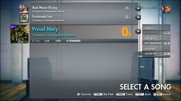 """Скриншот №1 к Rocksmith® 2014 Edition – Remastered – Creedence Clearwater Revival - """"Proud Mary"""""""