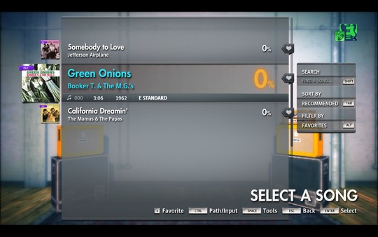 """Скриншот №2 к Rocksmith® 2014 Edition – Remastered – Booker T.  the M.G.s - """"Green Onions"""""""