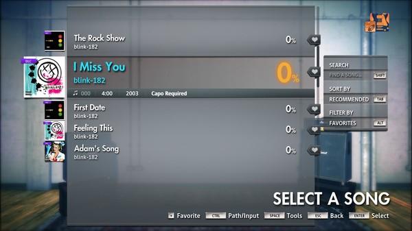 Скриншот №5 к Rocksmith® 2014 Edition  - Remastered – blink-182 - I Miss You