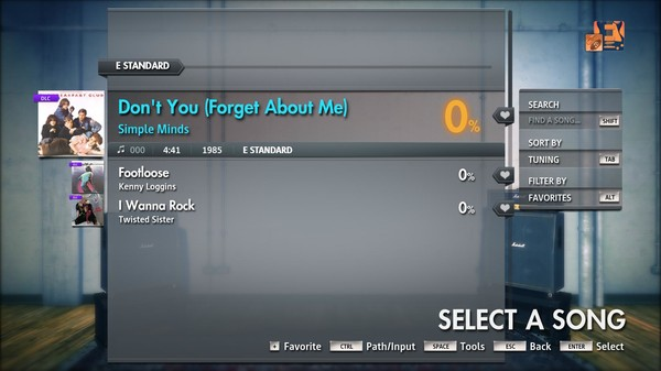 "Скриншот №1 к Rocksmith® 2014 Edition – Remastered – Simple Minds - ""Dont You Forget About Me"""