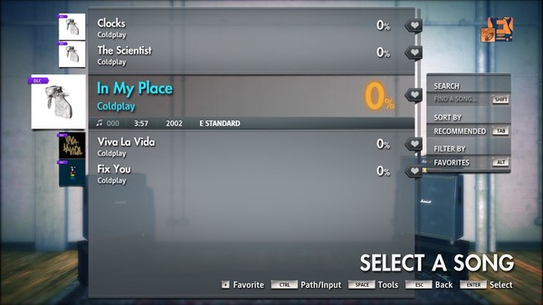 """Скриншот №1 к Rocksmith® 2014 Edition – Remastered – Coldplay - """"In My Place"""""""