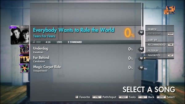 "Скриншот №3 к Rocksmith® 2014 Edition – Remastered – Tears for Fears - ""Everybody Wants to Rule the World"""