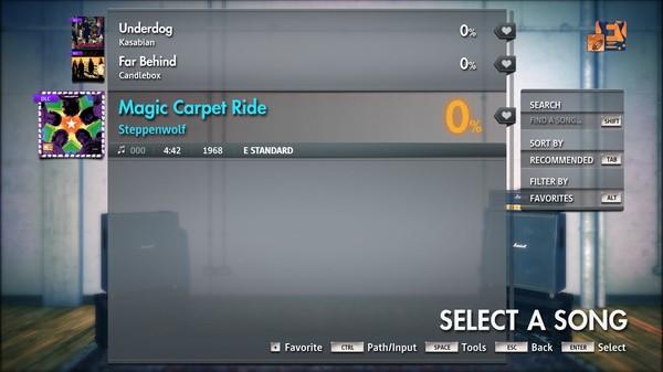 "Скриншот №4 к Rocksmith® 2014 Edition – Remastered – Steppenwolf - ""Magic Carpet Ride"""