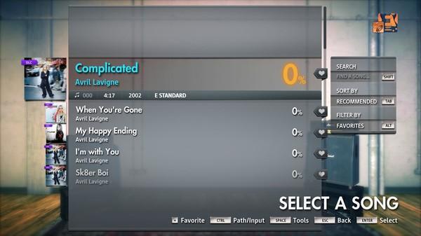 "Скриншот №3 к Rocksmith® 2014 Edition – Remastered – Avril Lavigne - ""Complicated"""