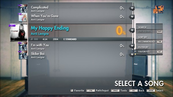 "Скриншот №4 к Rocksmith® 2014 Edition – Remastered – Avril Lavigne - ""My Happy Ending"""