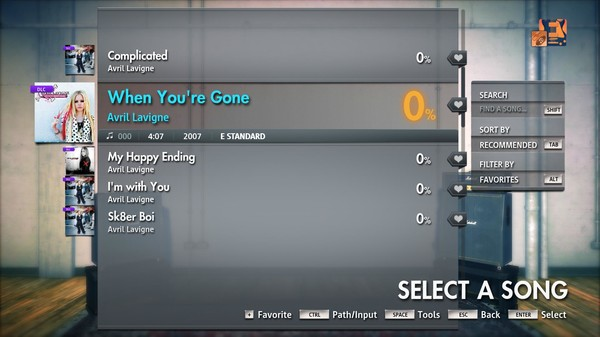 """Скриншот №4 к Rocksmith® 2014 Edition – Remastered – Avril Lavigne - """"When Youre Gone"""""""
