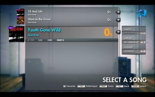"Скриншот №3 к Rocksmith® 2014 Edition – Remastered – Skid Row - ""Youth Gone Wild"""