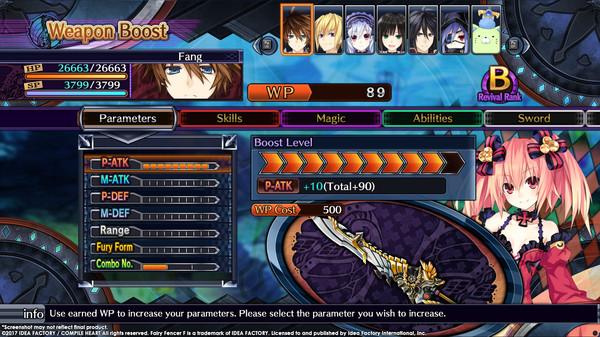 Скриншот №10 к Fairy Fencer F Advent Dark Force