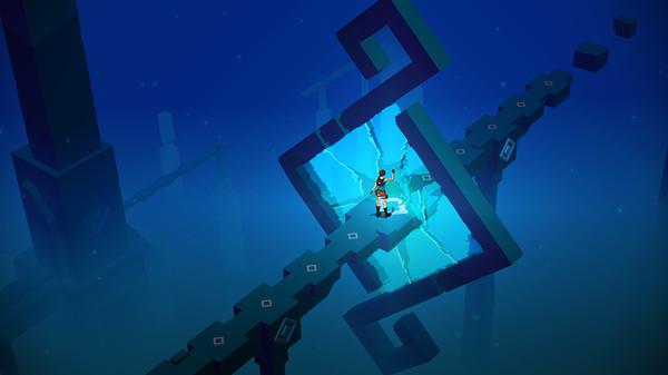 Screenshot of Lara Croft GO