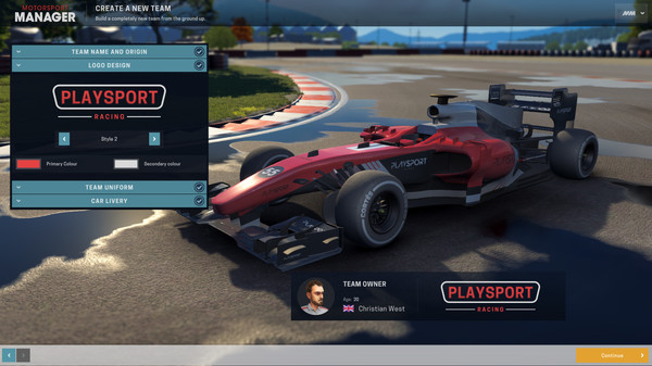 Скриншот №1 к Motorsport Manager - Create Your Own Team