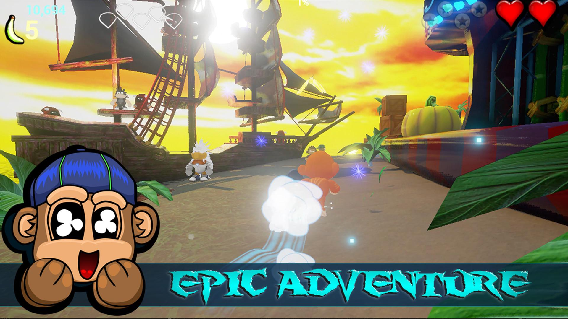 Monkey Land 3D: Reaper Rush Screenshot 1