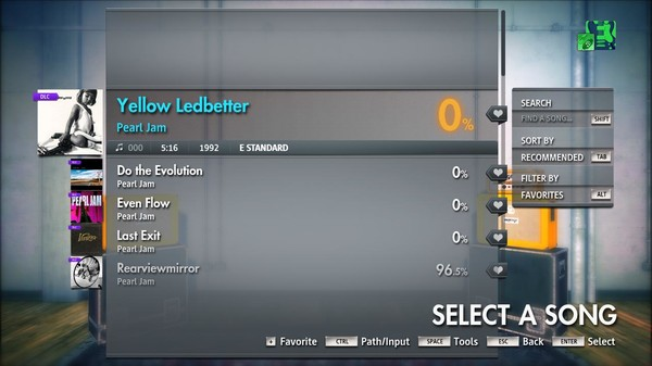 "Скриншот №4 к Rocksmith® 2014 Edition – Remastered – Pearl Jam - ""Yellow Ledbetter"""