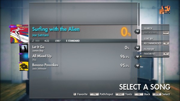 "Скриншот №2 к Rocksmith® 2014 Edition – Remastered – Joe Satriani - ""Surfing with the Alien"""