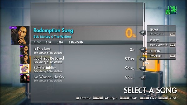 "Скриншот №4 к Rocksmith® 2014 Edition – Remastered – Bob Marley  The Wailers - ""Redemption Song"""