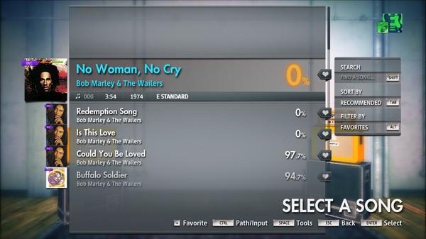 "Скриншот №4 к Rocksmith® 2014 Edition – Remastered – Bob Marley  The Wailers - ""No Woman No Cry"""