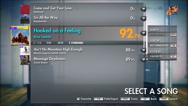 "Скриншот №4 к Rocksmith® 2014 Edition – Remastered – Blue Swede - ""Hooked on a Feeling"""