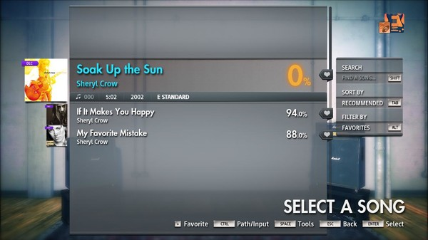 "Скриншот №3 к Rocksmith® 2014 Edition – Remastered – Sheryl Crow - ""Soak Up the Sun"""
