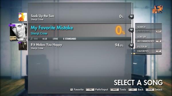 "Скриншот №5 к Rocksmith® 2014 Edition – Remastered – Sheryl Crow - ""My Favorite Mistake"""